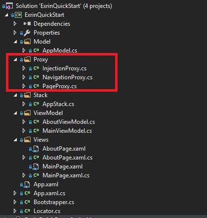 Exrin MVVM Framework 2 0 0 Quick Start - Xamarin Help