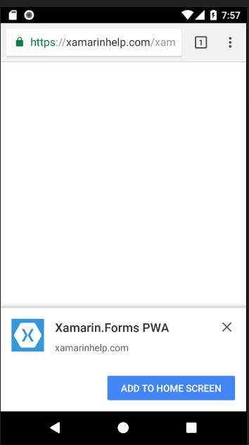 Create a PWA in Xamarin Forms with Ooui Wasm - Xamarin Help